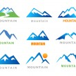 Mountains Icons — Stock Vector