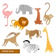cute animals — Stock Vector
