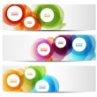 Colorful banners - circles — Stock Vector #29995747