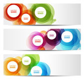 Colorful banners - circles — Stock Vector