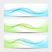 Banner - Water Waves — Stock Vector