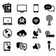 Collection of media icons — ストックベクタ