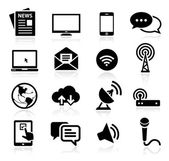 Collection of media icons — Stock Vector