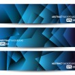 Three blue abstract banners — Stock Vector