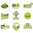 Eco Organic Icons — Stock Vector #32407719