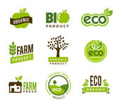 Eco Organic Icons — Stock Vector