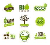 Eco Organic Icons — Stock Vector