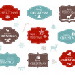 Stock Vector: Collection of Christmas Labels