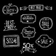 Vintage Sales Labels - Doodles — Stock Vector