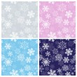 Stock Vector: Winter Seamless Patterns