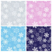 Winter Seamless Patterns — Stock Vector
