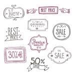 Sales Labels - Doodles — Stock Vector #34751721