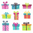 Stock Vector: Colorful Presents