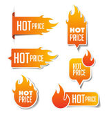 Hot Price Sales Labels — Stock Vector