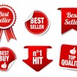 Stock Vector: Best Seller Labels and Badges