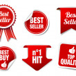 Best Seller Labels and Badges — Stock Vector