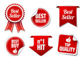 Best Seller Labels and Badges — 图库矢量图片