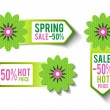 Spring Sales Labels — Stock Vector