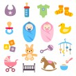 Baby Icons Set — Stock Vector #39199939
