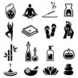 Wellness and Relax Icons — Stock Vector