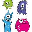 Cute characters - monsters — Stock Vector