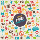 Summer Retro Background — Vector de stock