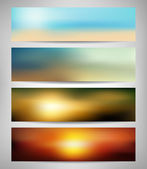 Summer Blurred Abstract Banners — Stock Vector