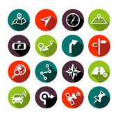Navigation Icons Flat Design — Stok Vektör