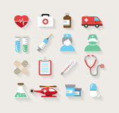 Medical Icons in Flat Design Style — Stock Vector