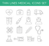 Medical Icons in Thin Line Design Style — Vector de stock