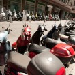 Motorbike in a row on street. Motorbike exhibition in Italy — Lizenzfreies Foto