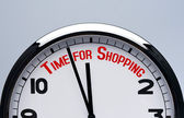 Shopping time. Buying time concept — Stok fotoğraf
