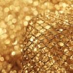Golden fabric — Stock Photo
