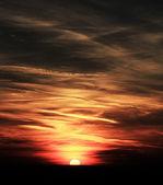 Rode zonsondergang — Stockfoto