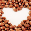 Tasty hazelnuts, close up — Stock Photo