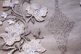 Silver textile — Stock Photo