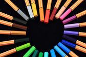 Kalp şeklinde kalemler — Stok fotoğraf