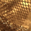 Stock Photo: Golden fabric