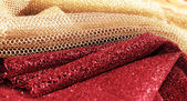 Golden and red fabric — Stock Photo