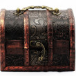 Rare treasure chest - Stock Photo