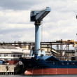 Stockfoto: Cargo ship, containers and crane