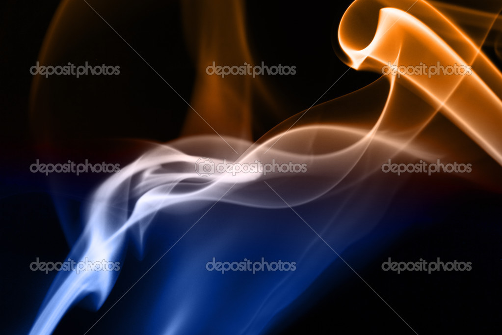 Blue Black Smoke Background Blue And Yellow Smoke in Black Background