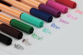 颜色的笔 — 图库照片