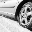 Winter tyre — Stock Photo