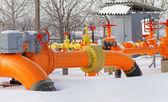 Orange gas pipe — Stock Photo