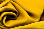 Golden satin textile — Stock Photo
