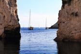 Stiniva bay in vis island — Stock Photo