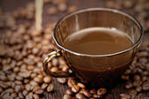 Cup of coffee close-up — Stock Photo
