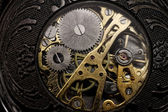 Watch gears very close up — Stockfoto