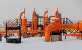 Tubo gas arancione — Foto Stock